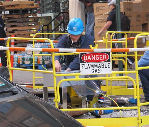Flammable Gas Funny Safety Picture