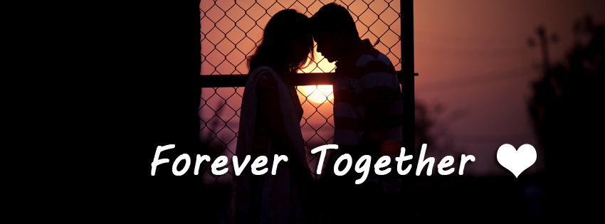 Forever Together Love Couple Facebook Cover Photo