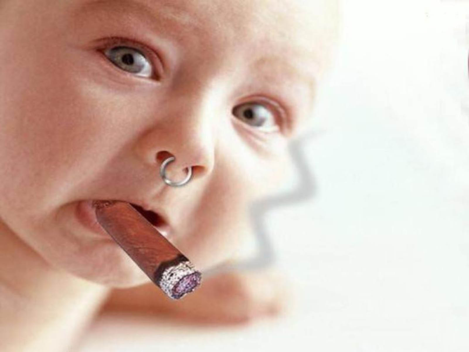 Funny Baby Smoking Wallpaper