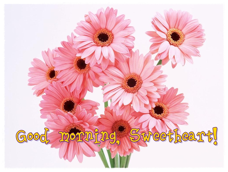 good morning sweetheart flowers picture