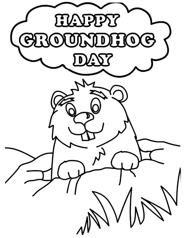 groundhog day coloring pages preschool - photo#1