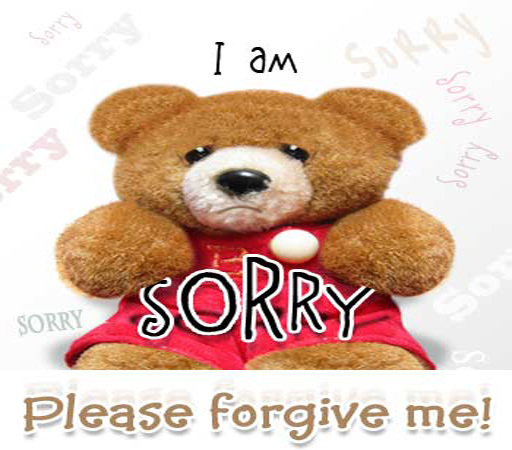 I'm So Sorry Plz Forgive Me Puppy Glitter