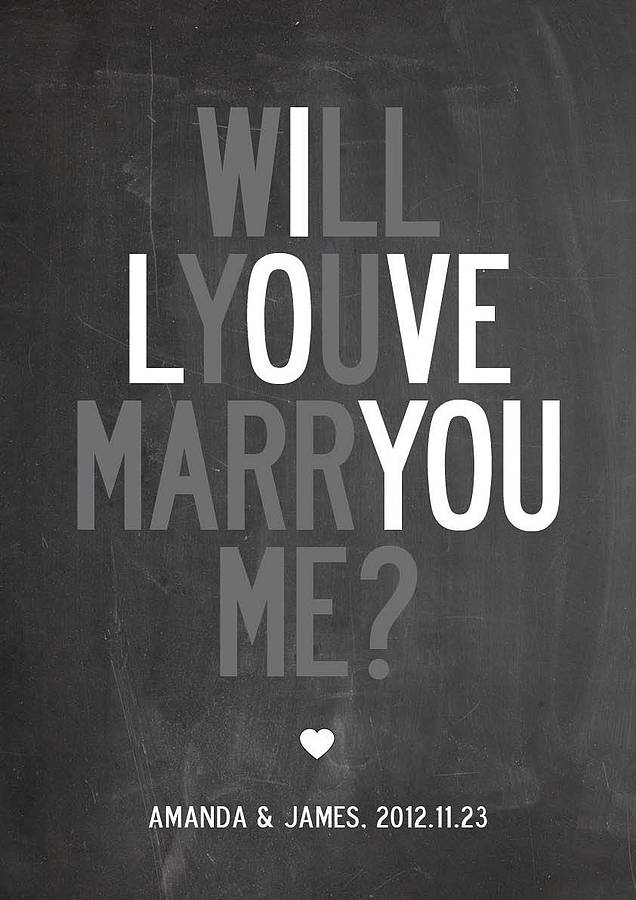 I Love You Will You Marry Me Picture