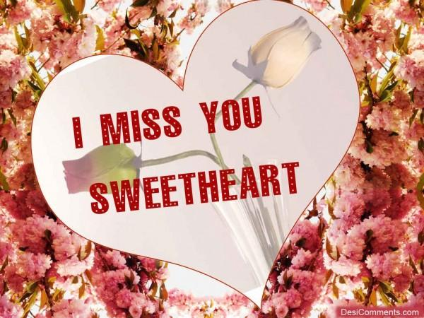 I Miss You Sweetheart Card