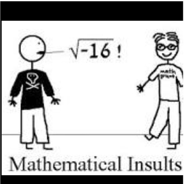 Mathematical Insults Funny Math Image