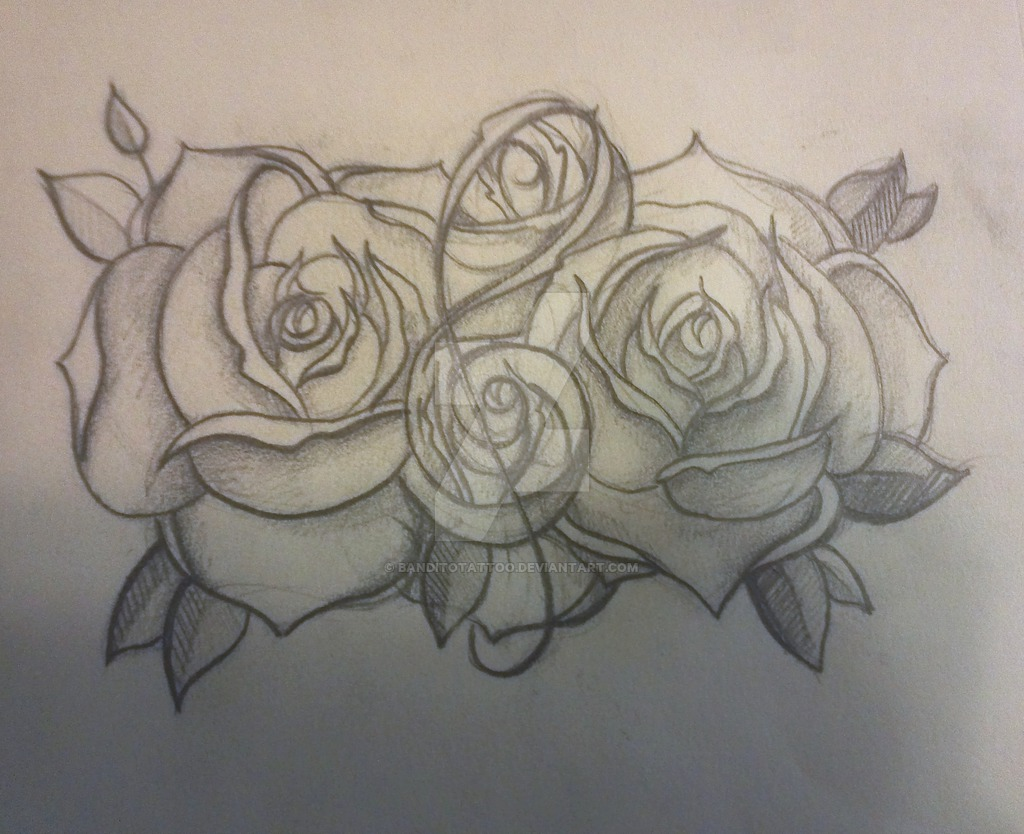 26 cool violin key tattoo images pictures and ideas for Rose outline tattoo
