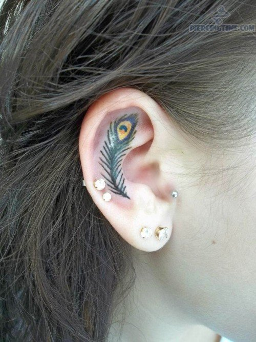 25 Feather Piercing Pictures And Images