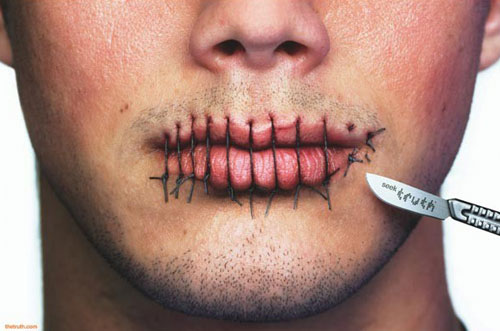 Sewed Mouth Funny Picture
