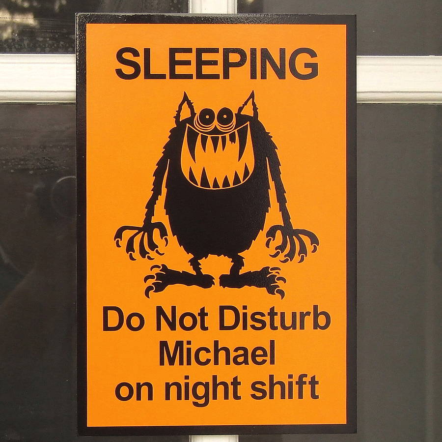 Sleeping Do Not Disturb Michael On Night Shift