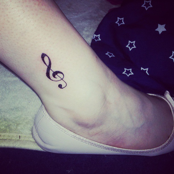 Small Key Tattoo: 26 Cool Violin Key Tattoo Images, Pictures And Ideas