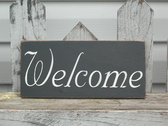 Shop Beautiful Metal Welcome Wall Sign - Overstock - 15889315