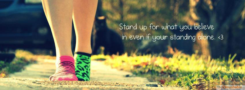 Stand Up For What You Believe Facebook Cover Photo