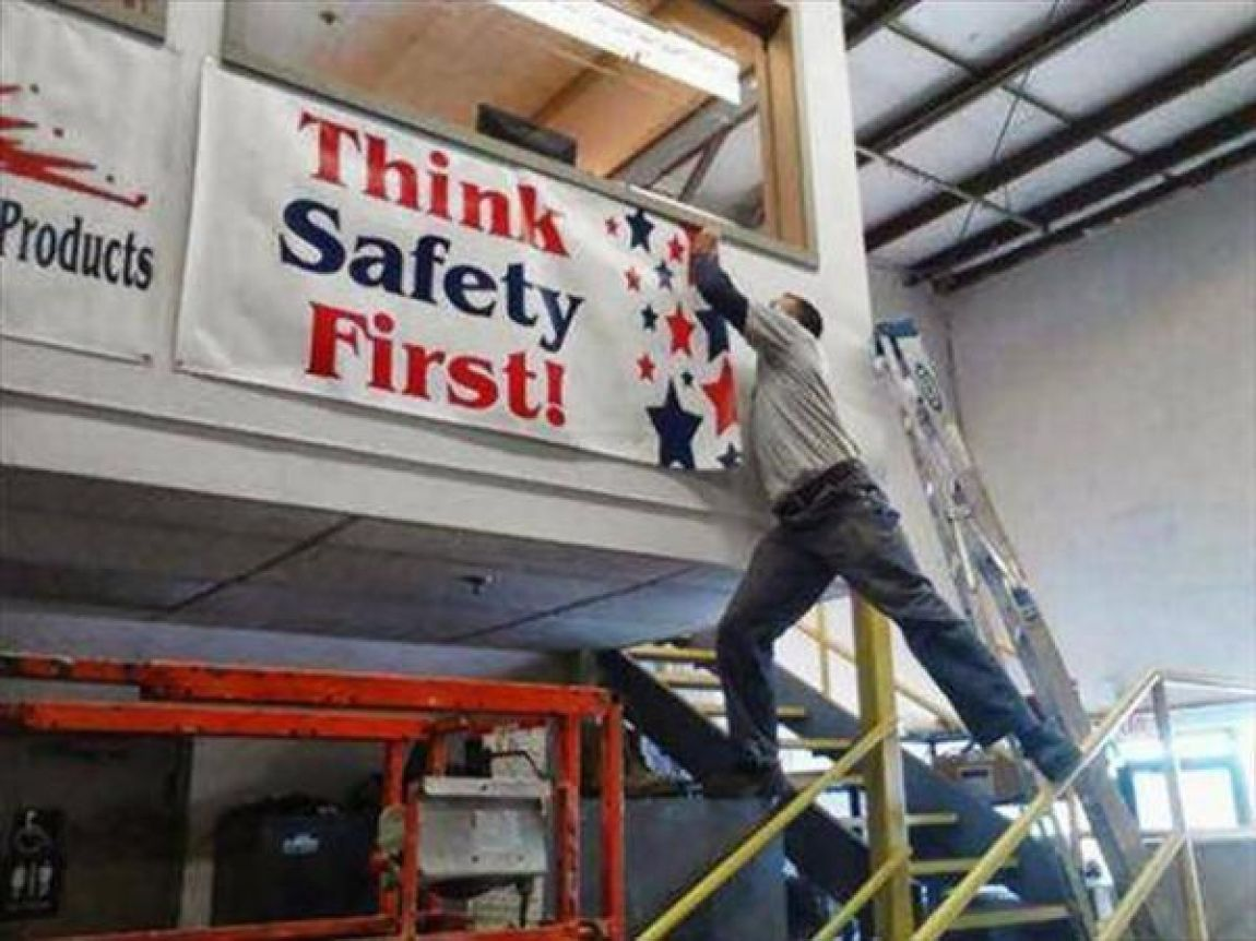 Think Safety First Funny Picture For Facebook - Download funny safety photos