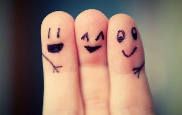 Three Best Friends Fingers Art