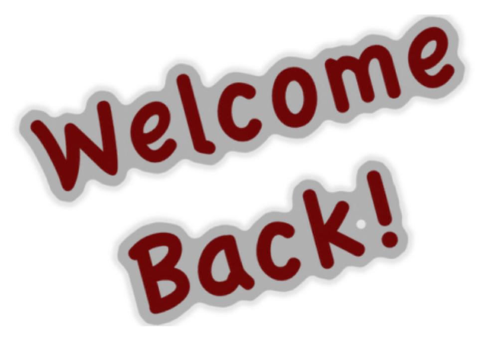 welcome back photos - photo #1