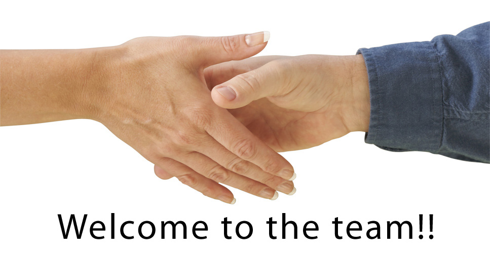 Welcome To The Team Hand Shaking Picture