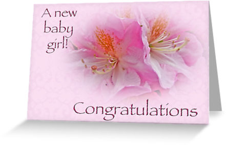 38 wonderful baby girl born wishes pictures a new baby girl congratulations greeting card m4hsunfo