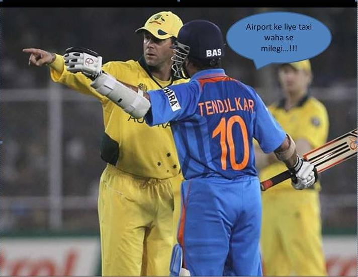 Hussey Comment On Indian Cricket Team Funny: Airport Ke Liye Taxi Waha Se Milegi Funny Cricket Joke Picture