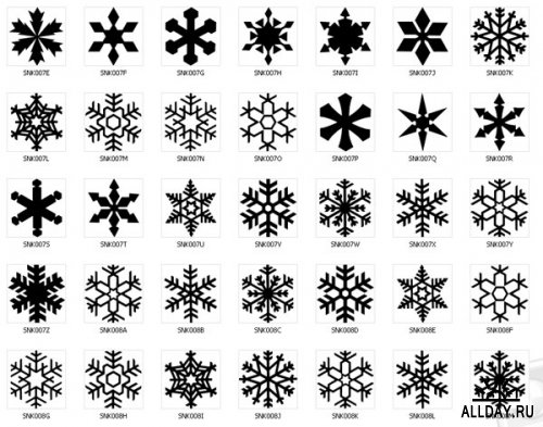 7a5708c938007 Amazing Black Ink Snowflake Tattoo Flash