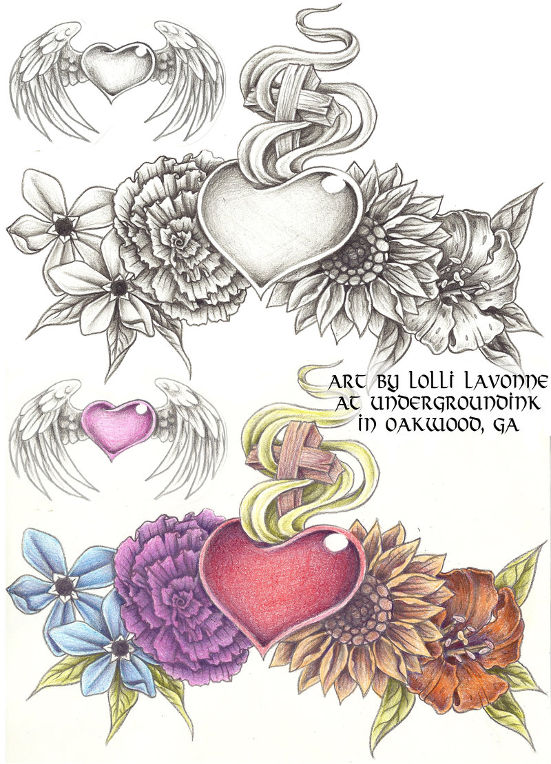 a2a46961e74fe Amazing Sacred Heart Tattoo Designs By Isabella