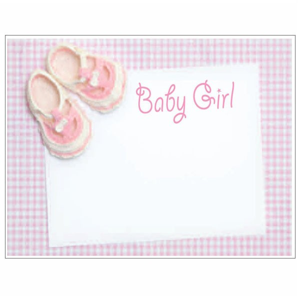 baby girl greeting card - New Born Baby Card