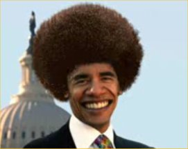 Barack Obama With Afro Hair Funny Political - Good funny afro photos