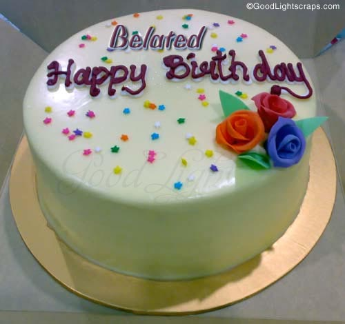 Belated Happy Birthday Cake Picture