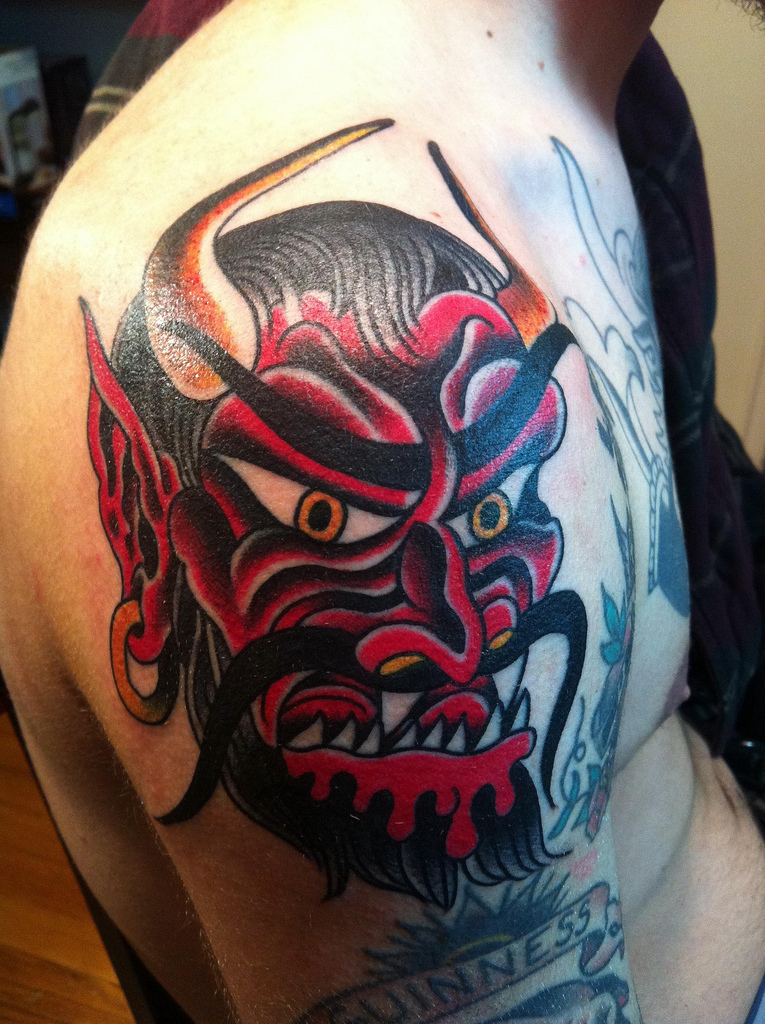 Black Tribal Devil Tattoo By Shadow696