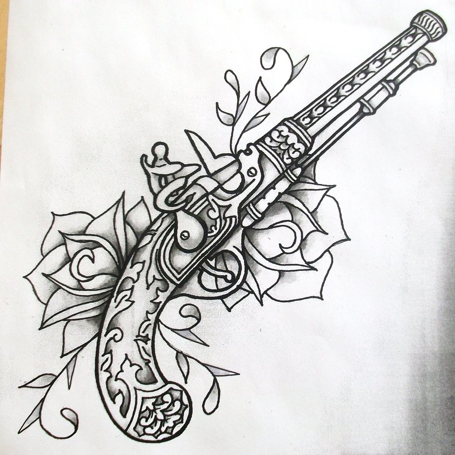 14 Latest Gun Tattoo Designs And Ideas