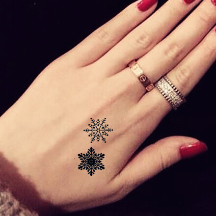 21 snowflake tattoo images pictures and ideas. Black Bedroom Furniture Sets. Home Design Ideas