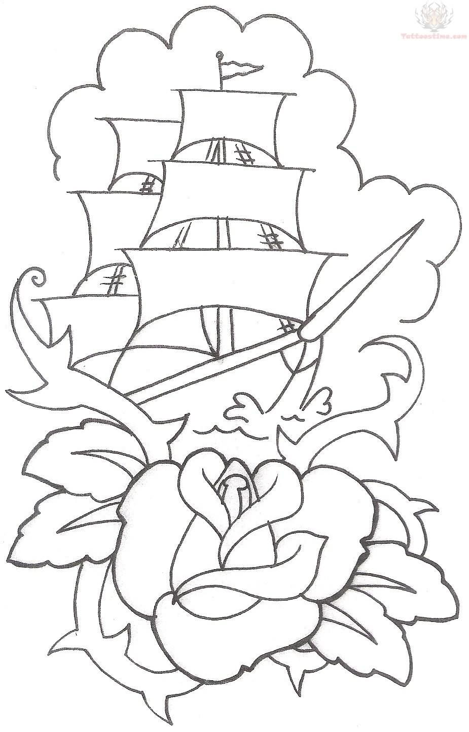 Traditional Tattoo Flash Outlines Tattoo Designs Ideas