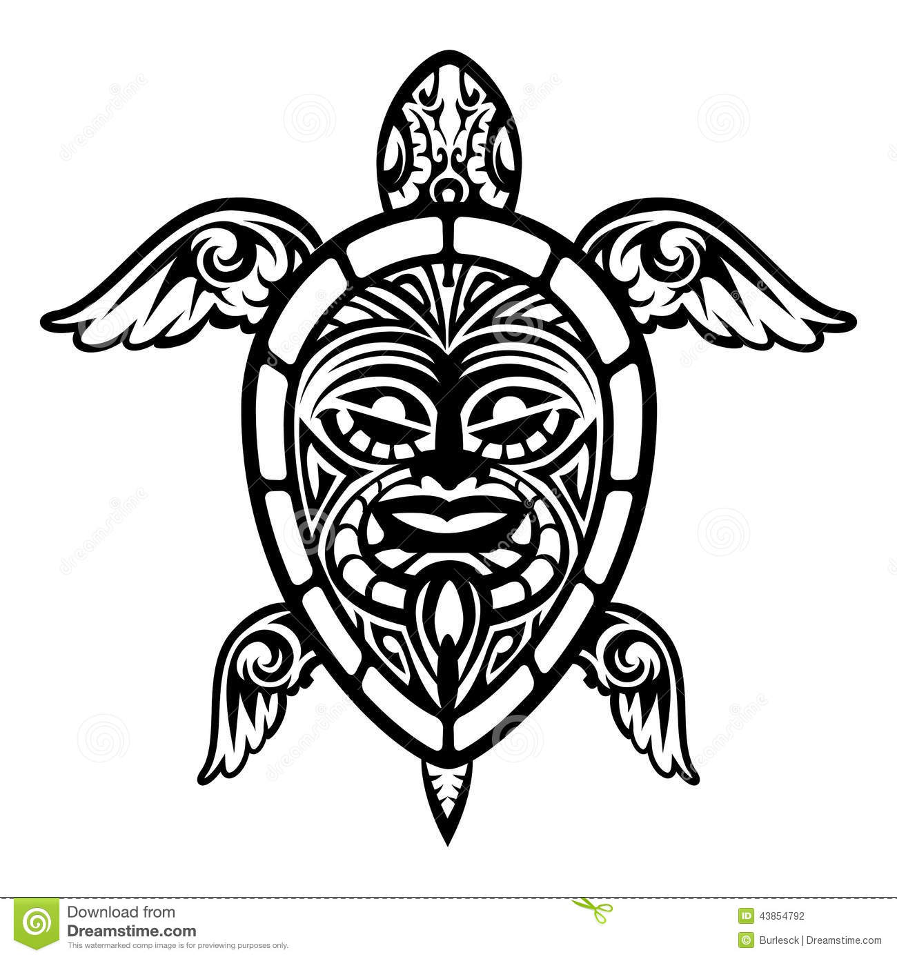 Hawaiian turtle designs color - photo#23