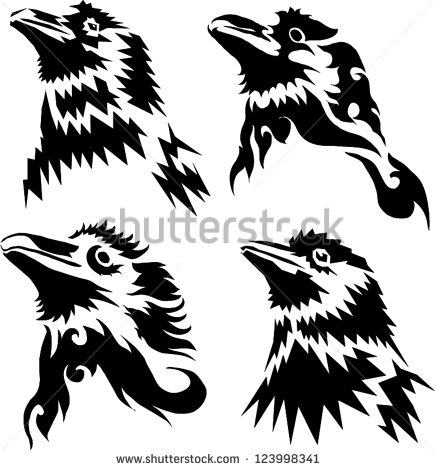 14 crow tattoo designs samples and ideas. Black Bedroom Furniture Sets. Home Design Ideas