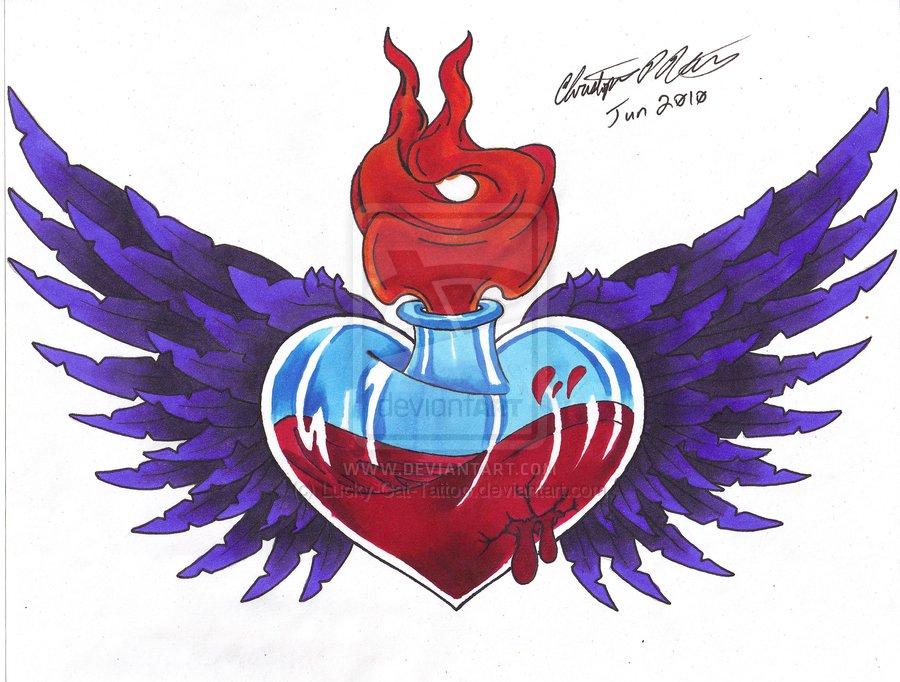 5 Cool Sacred Heart Tattoo Design Ideas