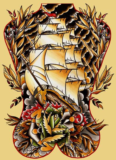8 Ship Tattoo Designs And Ideas