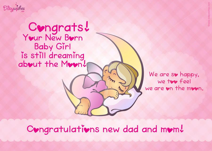 38 wonderful baby girl born wishes pictures congrats your new born baby girl is still dreaming about the moon m4hsunfo