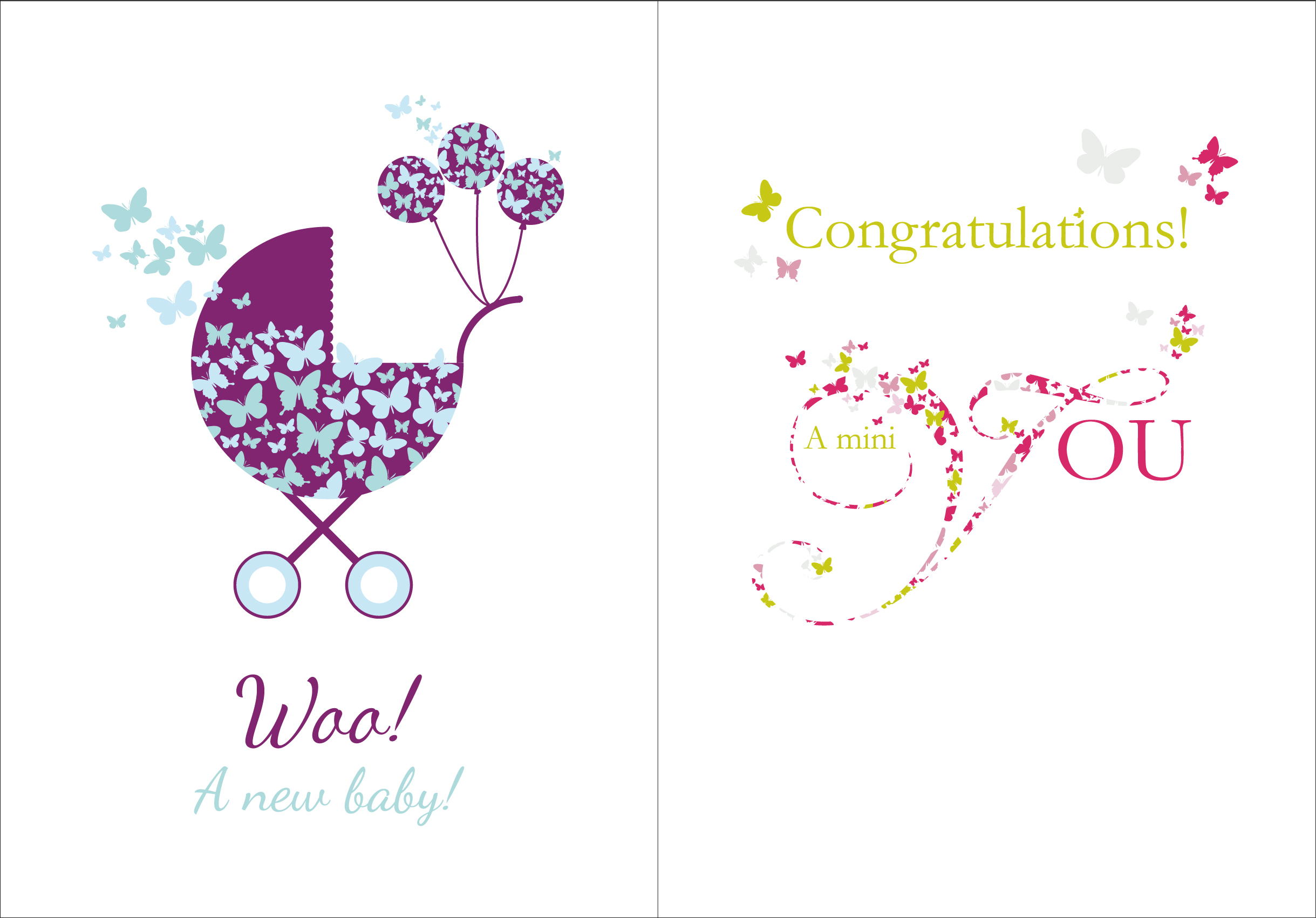 congratulations on a new baby - New Born Baby Card