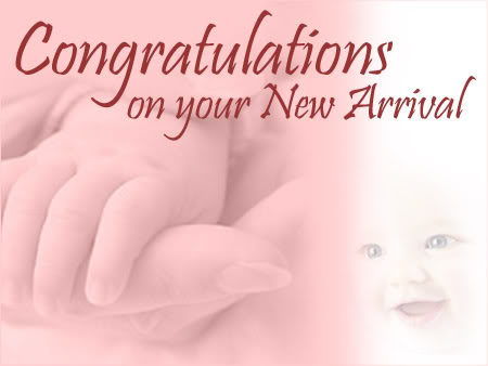 congratulations on your new arrival