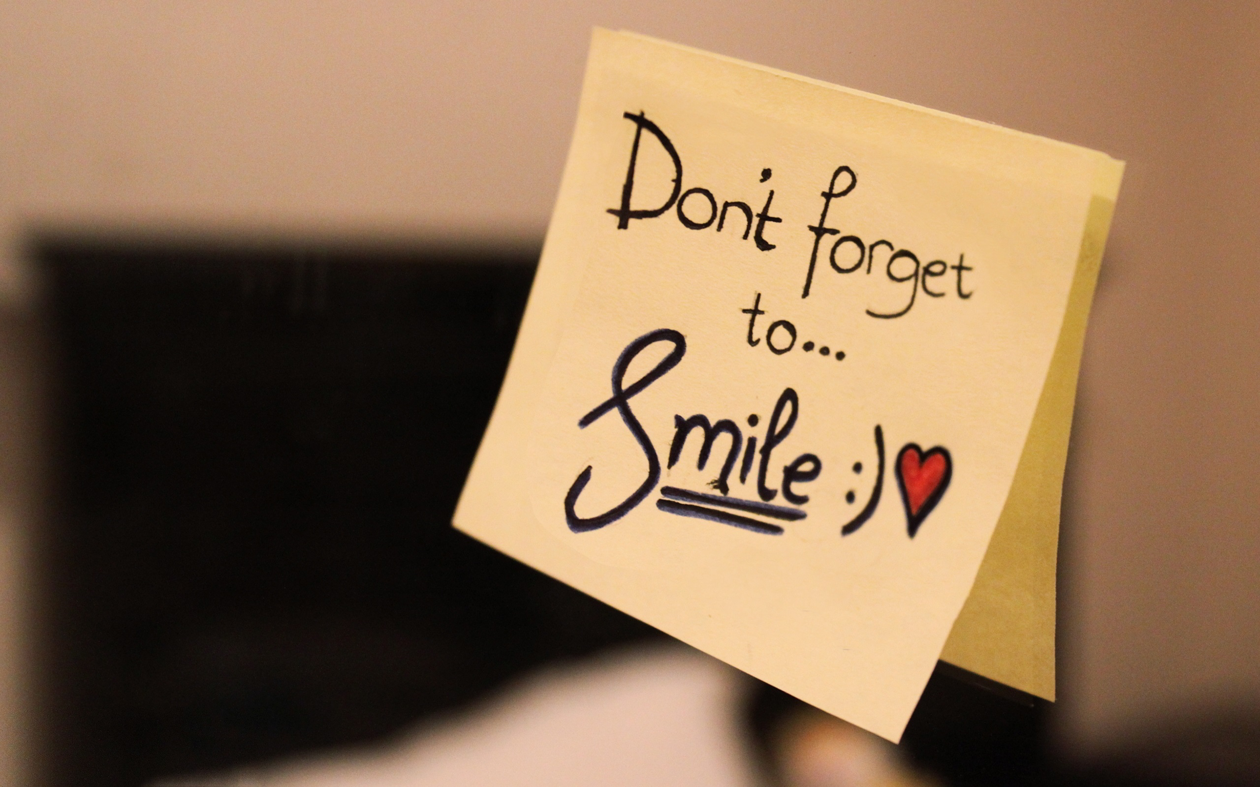 Dont Forget To Smile Note