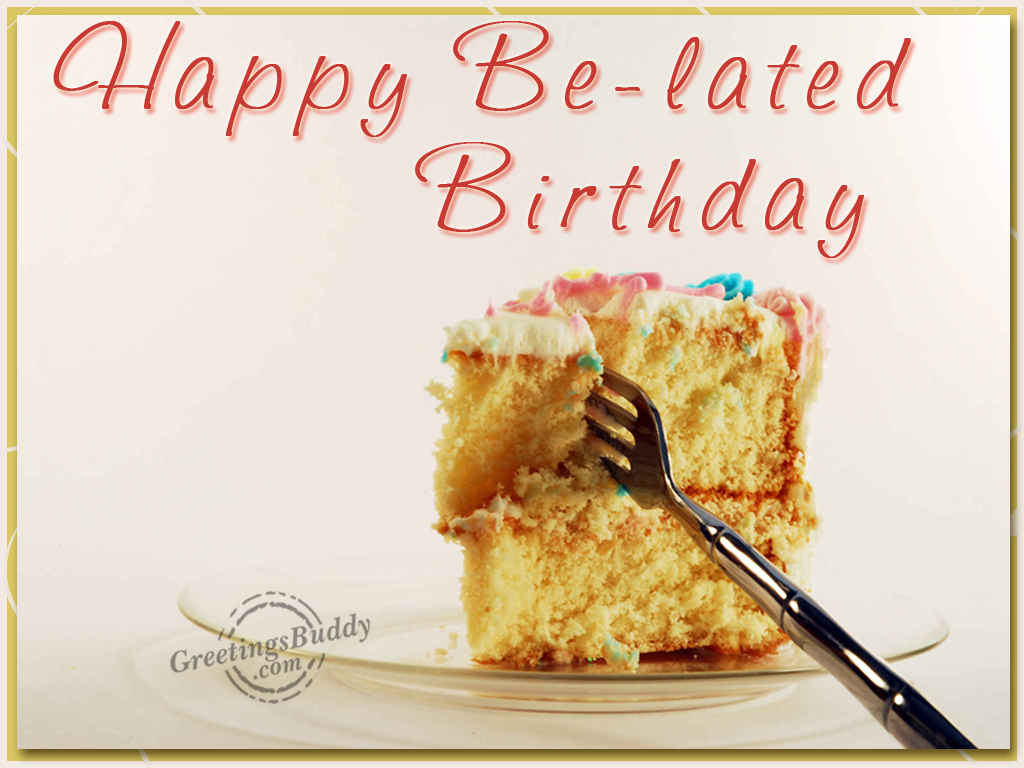 Happy Birthday Cake And Balloons Modernhappybirthdaycardcake – Free Belated Birthday Cards