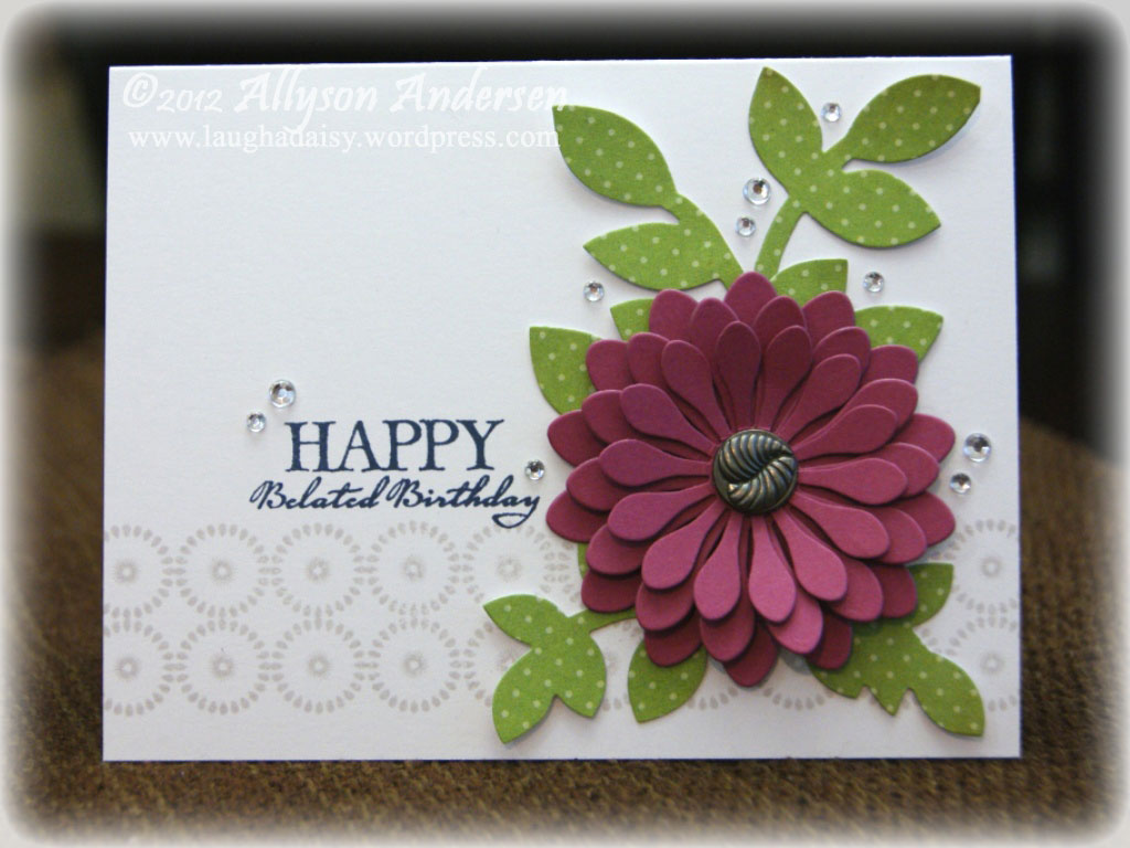 Happy Belated Birthday Flower Card