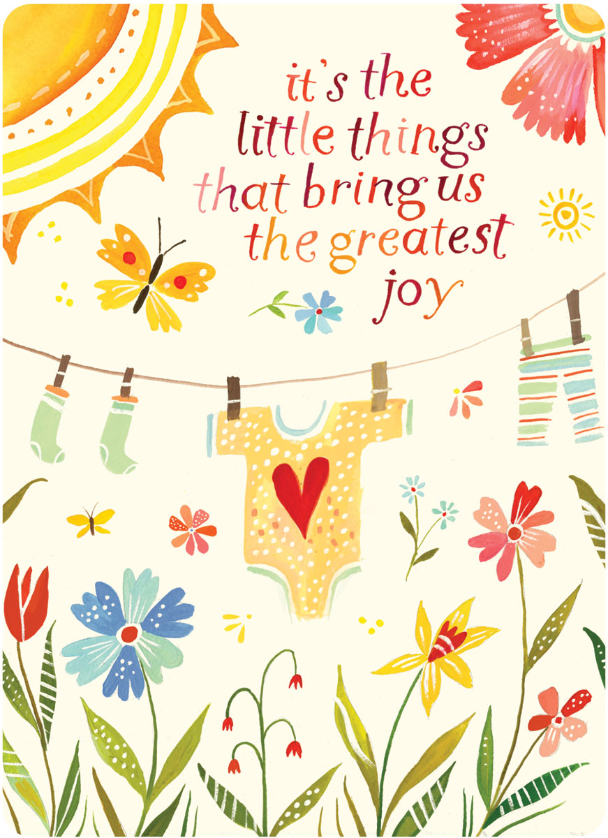 its the little things that bring us the greatest joy congratulations on new baby - New Born Baby Card