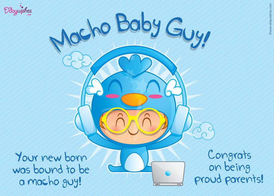 macho baby guy congratulations on being proud parents