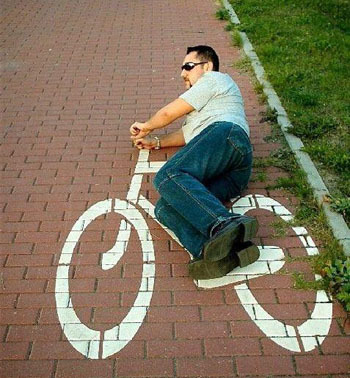 Image result for man on bike funny