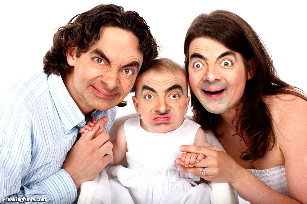 mr bean funny family picture