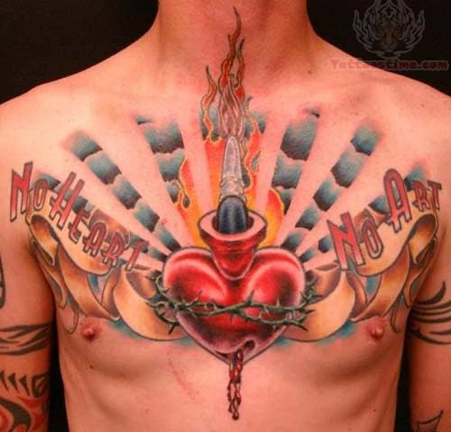 16 sacred heart tattoo images pictures and ideas for Sacred ink tattoo