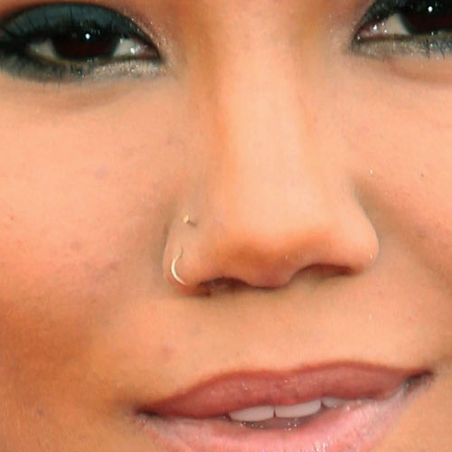 Right Nostril Nose Piercing For Girls