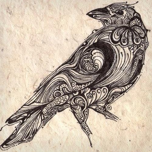 nice crow tattoo on left forearm. Black Bedroom Furniture Sets. Home Design Ideas