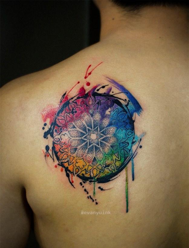Watercolor Yin Yang Tattoo Design By Koray Karagozler