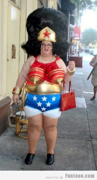 sc 1 st  Askideas.com & Woman In Superwoman Costume Funny Picture